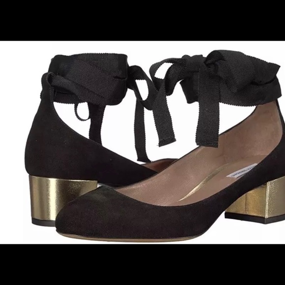 51cbee0ff0a Tabitha Simmons Chloe Block Heel Pumps 8 US 38 EUR Boutique